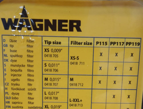 Accessoires Wagner Airless Sprayer Plus et Wagner Project Pro 115/117/119