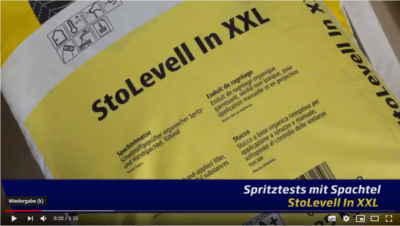 StoLevel In XXL - Sto Spachtelmasse Airless spritzen