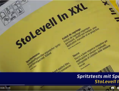 StoLevell In XXL – Sto Spachtelmasse im Airless Spritztest
