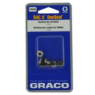 5 x joints pour buse et support Graco RAC X (base...