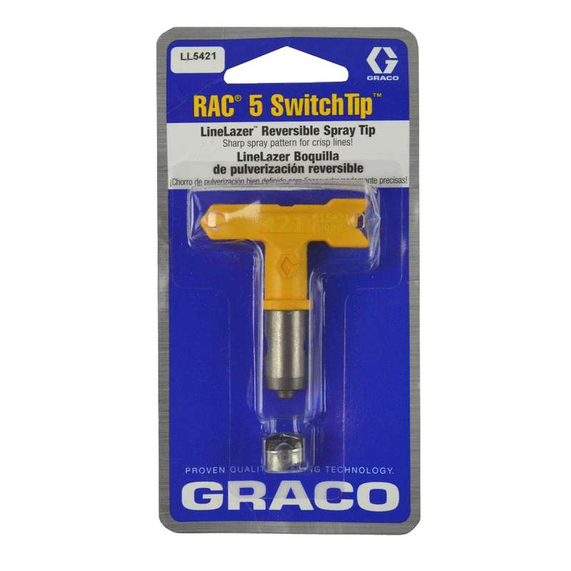 Graco RAC V LineLazer - Spray Tip for Airless Paint Sprayer - yellow
