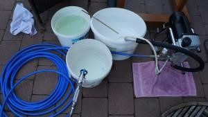 Cleaning Airless sprayer