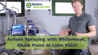 Airless Spraying with Whitewash
