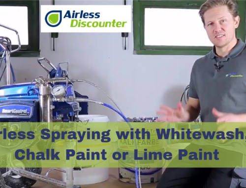 Spraying with Whitewash, Lime Paint or Chalk Paint – Airless Q&A #12