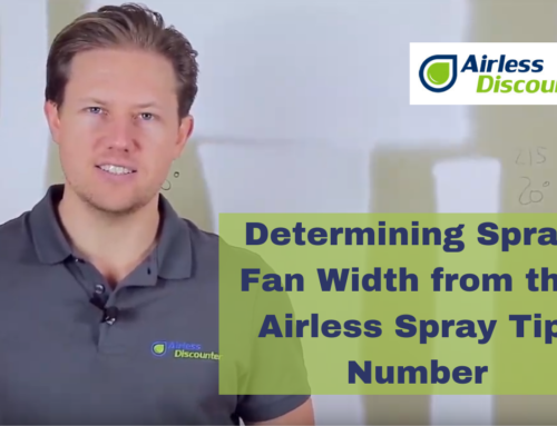 Determining Spray Fan Width Using the Spray Tip Number – Airless Q&A # 10