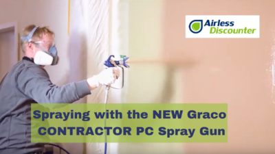 Spraying with Graco CONTRACTOR