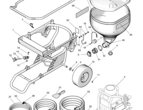 Graco T-Max 657 – Technical drawing & spare parts order list