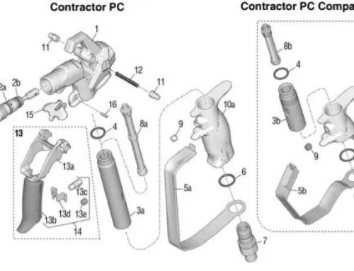 Graco Contractor PC Compact – Technical drawing & spare parts order list