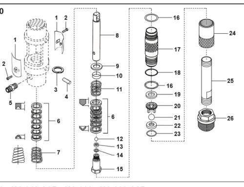 Wagner HeavyCoat HC 920 – Technical drawing & spare parts order list